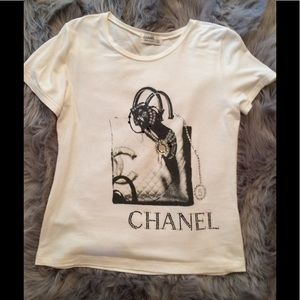 Vintage Chanel logo tee.